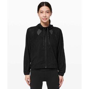Lululemon In Depth Jacket in Black Lace